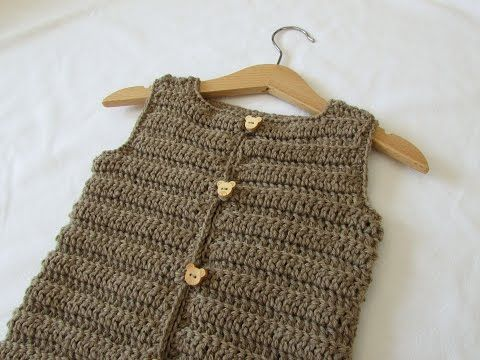 How to crochet an easy ribbed vest / sweater - any size - YouTube