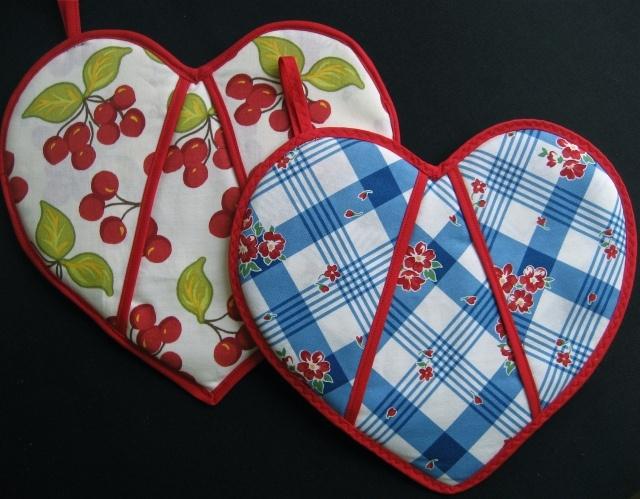 Potholders for valentines