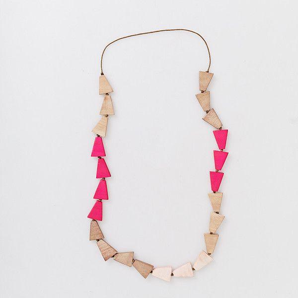 Love Triangle Necklace - Pink   Have you met Miss Jones