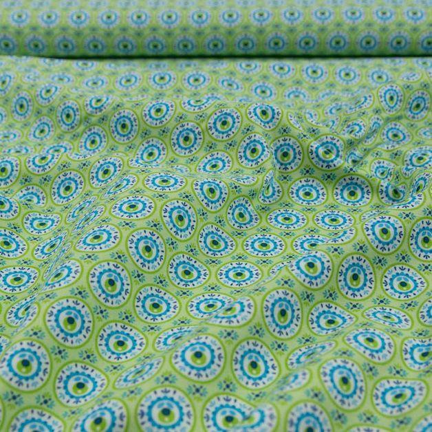 Stoff Blumen - Baumwollstoffe Tante Ema Blütengesang - ein Designerstück von Online-Stoffe-Werning bei DaWanda