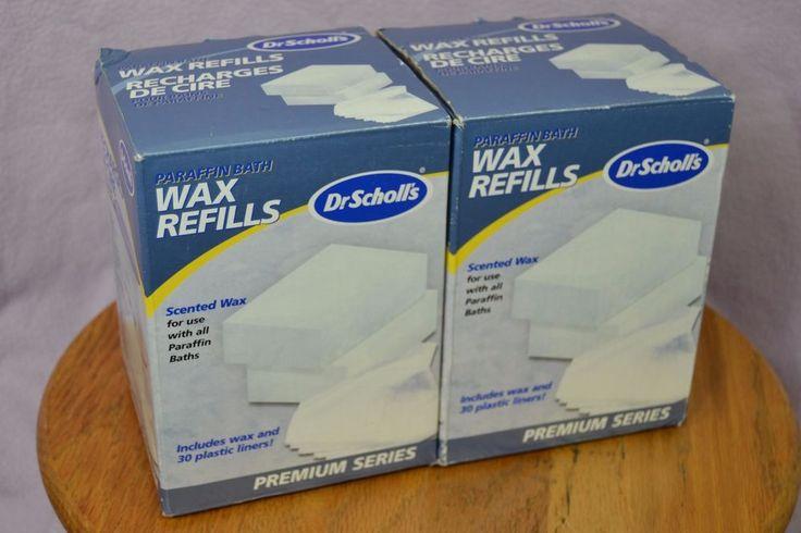 Two Dr Scholls Paraffin Bath Wax Refills Scented 2 lbs 30 Plastic Liners Each #DrScholls