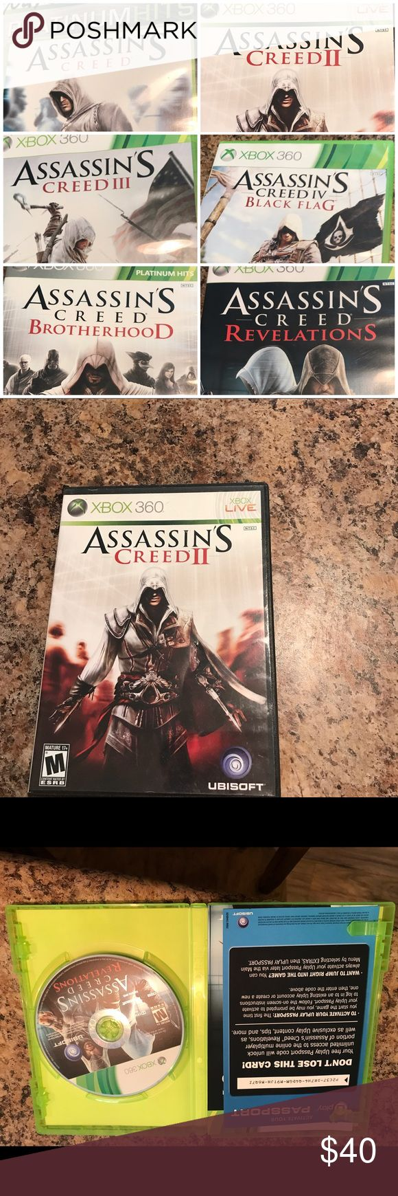 Xbox 360. Assassin's Creed collection Xbox 360 games in excellent condition. Bundle of Assassin's Creed 1-4. Brotherhood and Revelations. No reasonable offer refused. Other