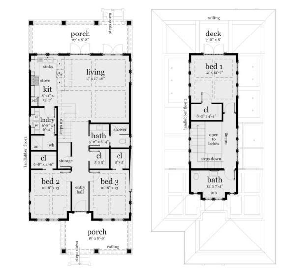 Planos casa de dos pisos tres dormitorios y 183 metros for Planos de casas de dos niveles