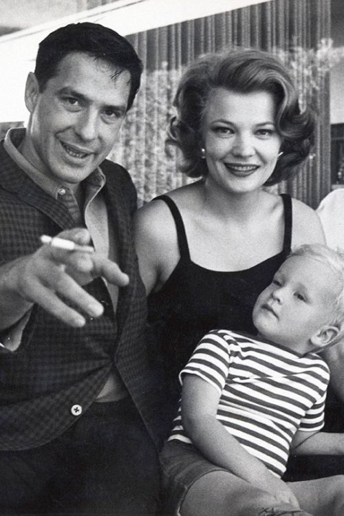 John Cassavetes and Gena Rowlands with son Nick Cassavetes, photographed by Leo Fuchs, 1961.