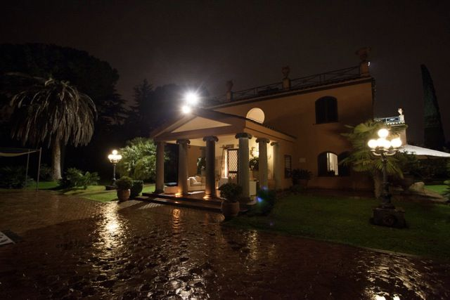 Villa Dino by night,the best Wedding in  the best venue in Rome inside the Appia Antica Park,   www.villadino.com