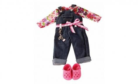 Wardrobe Shirt and Crocs Dungarees Set by Gotz
