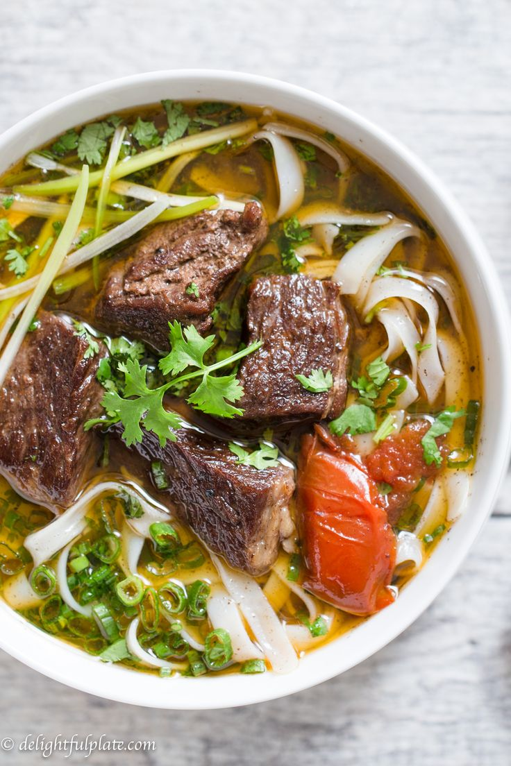 Vietnamese beef stew pho noodle soup (Pho bo sot vang) is a hearty and comforting noodle soup. This noodle soup features tender beef, flavorful broth and amazing aroma from pho spices. You can make it on the stovetop, in a slow cooker or even in a pressure cooker.