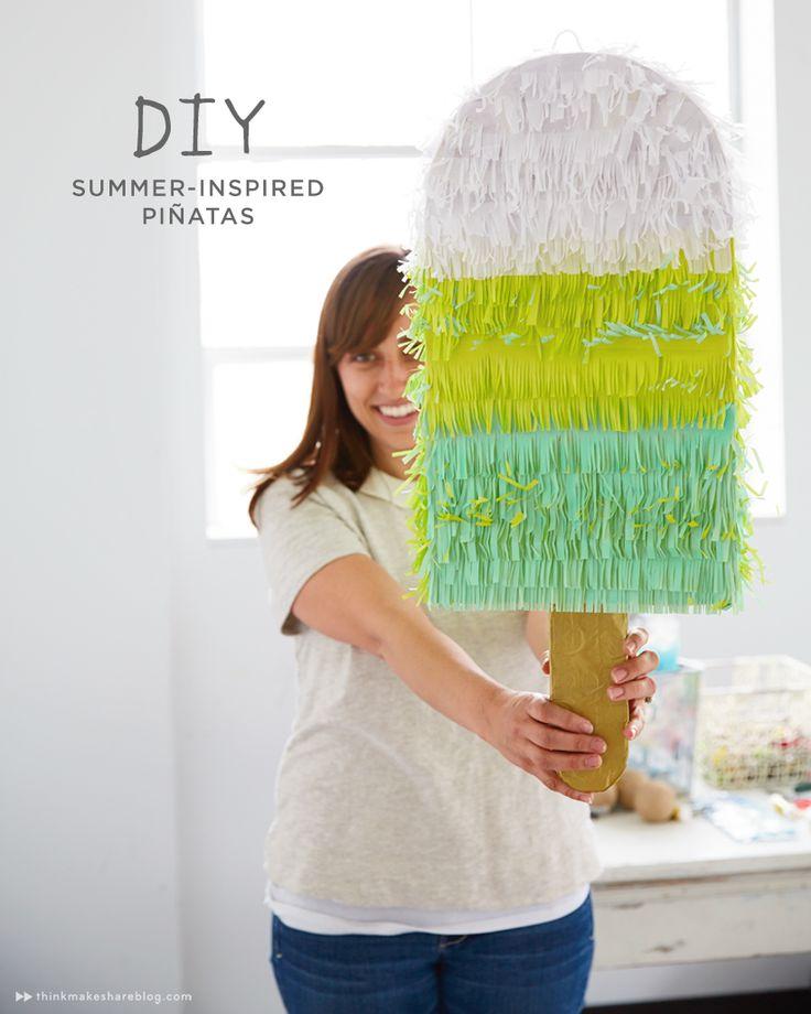 DIY Summer Inspired Piñatas | thinkmakeshareblog.com