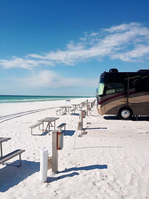 In the Florida panhandle, on a strip of land outside Pensacola, between the Gulf of Mexico and Choctawhatchee Bay, sits an RV vacationer's paradise. Camp Gulf has cabins and RV sites situated right on the water. Their motto: You can't get any closer than this. Maybe that's why it's been ranked one of the top RV parks by the Travel Channel. Play in the ocean, build sand castles, and enjoy a camp ice cream social. This is old-school fun on the beach.