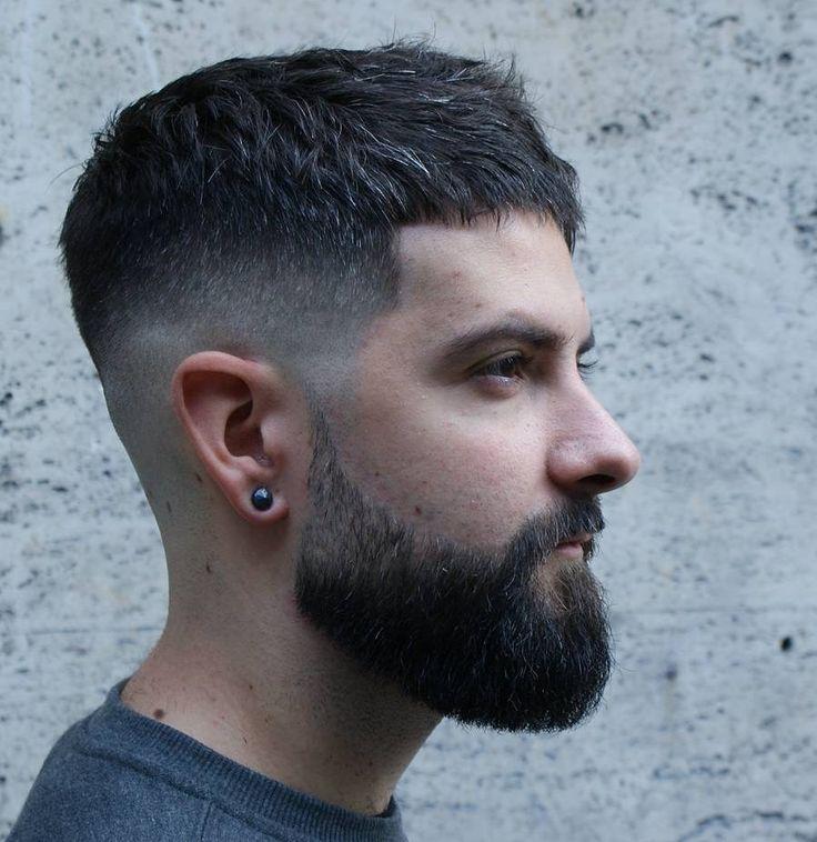 Low Fade Short Hairstyle + Beard