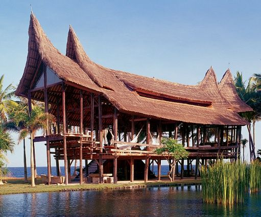 Drawing on Indigenous Forms, an Eco-Friendly House Rises on Bali -   Architectural, Interior and Landscape Design by Linda Garland