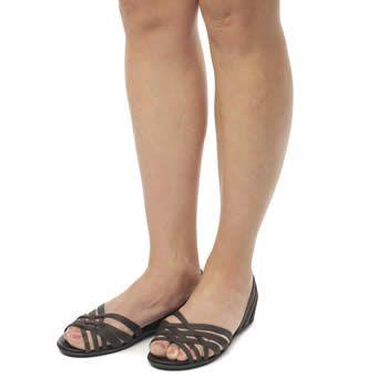 Women's Black Crocs Huarache Flat Sandals | schuh
