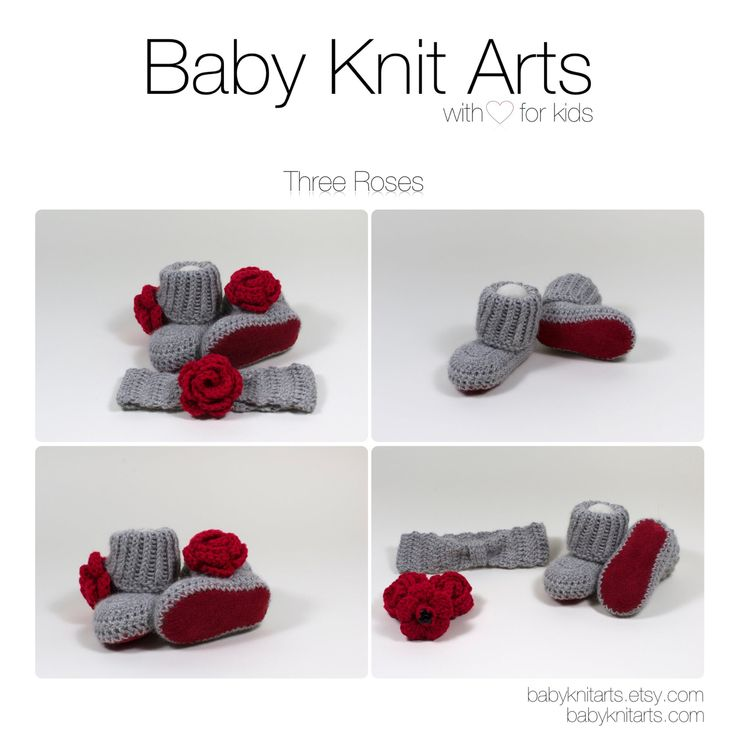 Three roses set made by Baby Knit Arts is hand crocheted with baby alpaca wool and genuine leather.