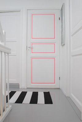 masking tape in a door