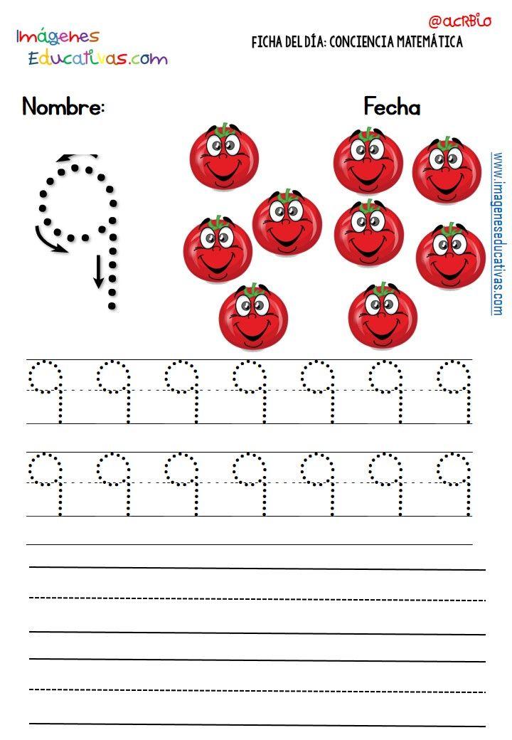 Fichas Para Trabajar Los Numeros 9 Escrever Numeros Atividades Para Educacao Infantil Caligrafia Para Iniciantes