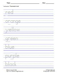 Type in your child's name, and this site creates a worksheet with traceable letters...so they can practice writing their name. I am going to laminate mine!