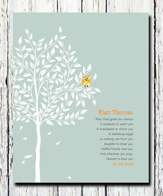 Like The Saying Personalized Christening Tree Gift Bible