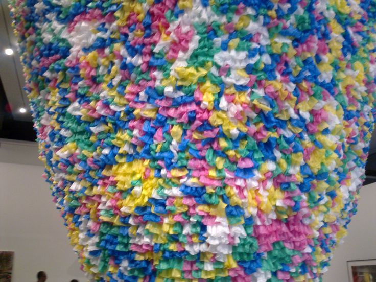 Made completely of plastic bags at GOMA