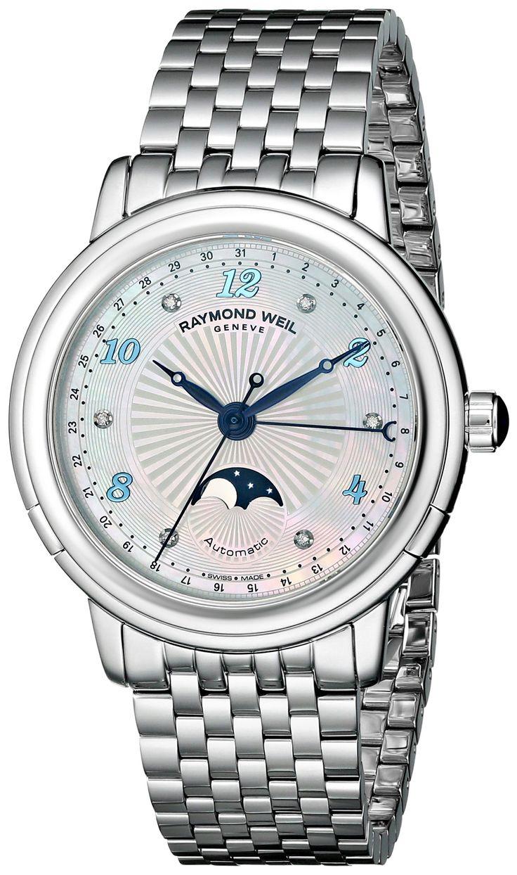 Amazon.com: Raymond Weil Women's 2739-ST-05985 Maestro Analog Display Swiss Automatic Silver Watch: Clothing