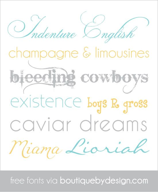 8 Fabulous free fonts via boutiquebydesign.com