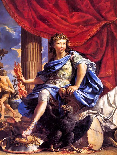Louis XIV sous les trait de Jupiter vainqueur - Charles Poerson ( v 1655 )