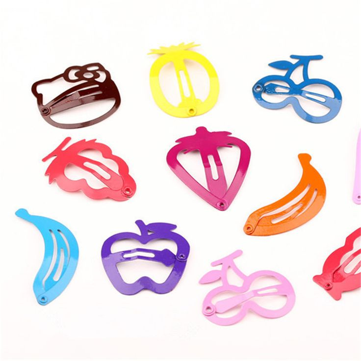 2016 New Arrival 10pcs/lot Cute Hello Kitty Fruit Hairpin Baby Girls Hair Clips Accessories for Baby Boutique Gift Barrette