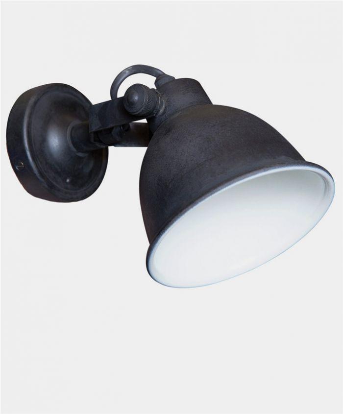 Trend Verlichtingsideeen en lampen voor het hele huis Industrieel zwart wandlampje