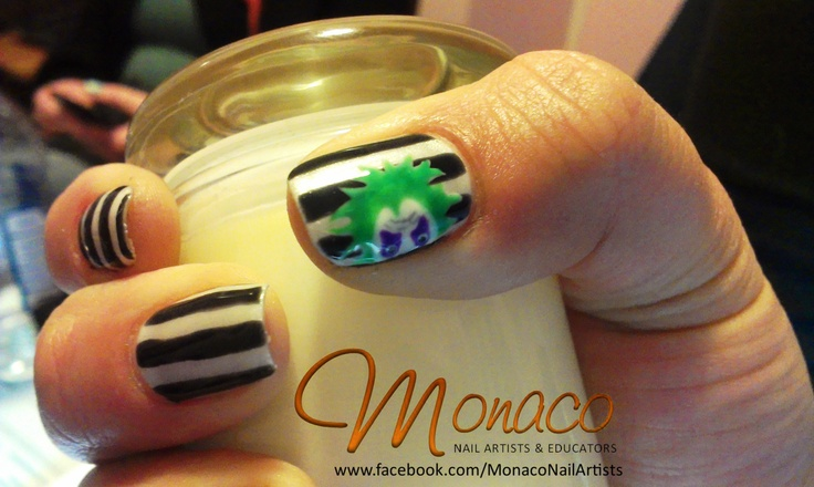 Beetlejuice #NailArt #ColourGloss: Nails Art, Art Inspo, Art Ideas, Nailart Colourgloss, Beetlejuic Nailart, Beetlejuice Nailart