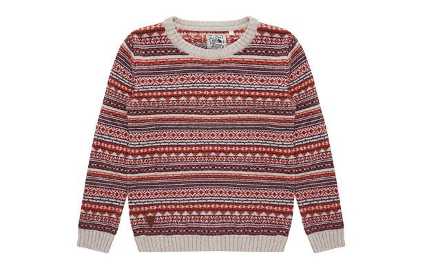 "Cosy Knitted Jumper. ""The jolly warm hues of this cosy fairisle knitted jumper make it the perfect choice for the coming season."""