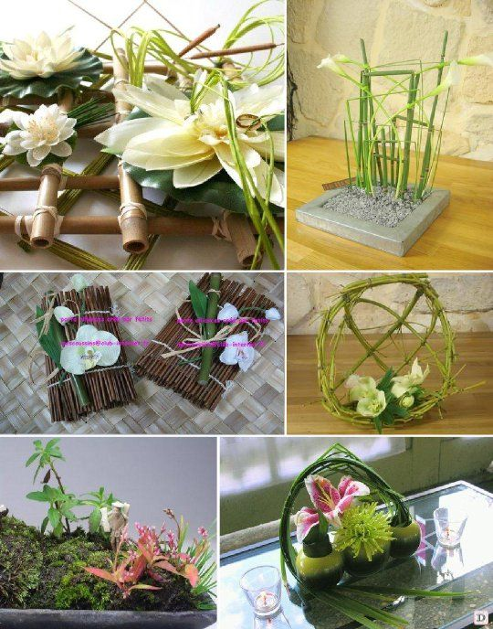 Les 25 meilleures id es de la cat gorie mariage zen en for Decoration de table zen bambou