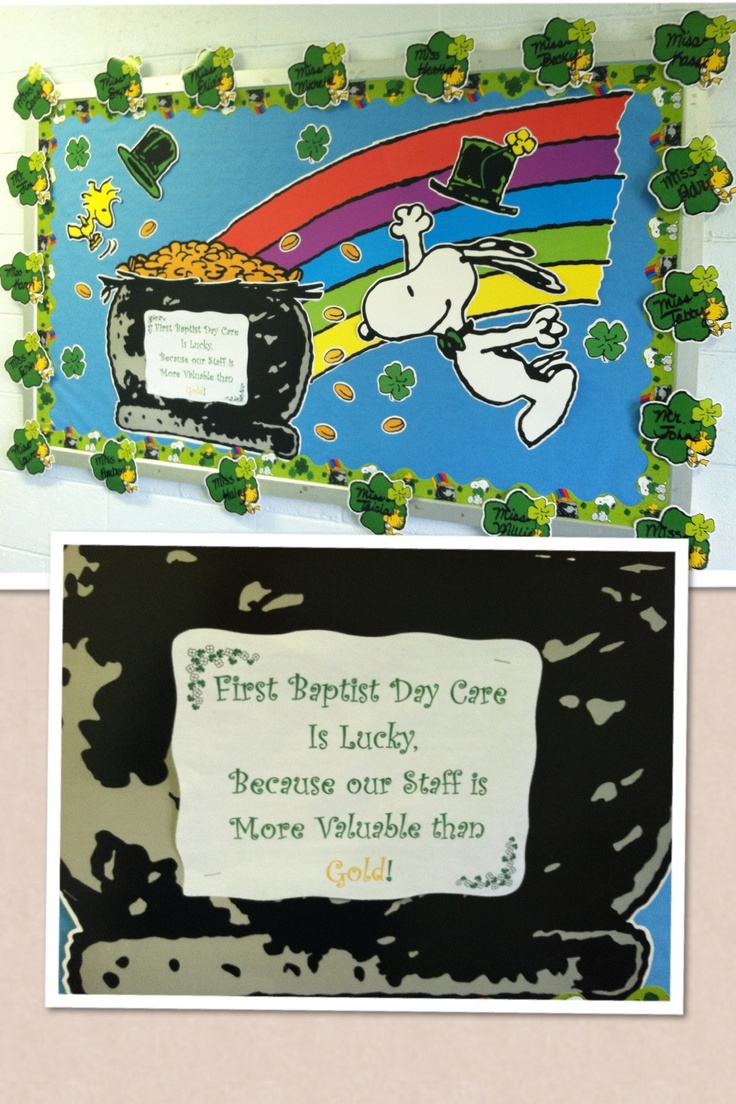 St Patricks Bulletin Board for my day care staff.