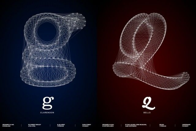 Galaxy Type posters by designer Romain Roger.