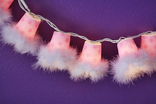 Sweetheart Plastic Cup String Lights @amandaformaro Crafts by Amanda