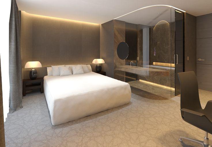 Dise o habitacion hotel dise o ram n bandr s janfri y for Diseno habitaciones