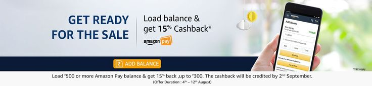 Add Money to Amazon Pay & Get 15% Extra Cashback Upto ₹300. Amazon is one of the largest online shopping destination in india where we can buy a-z products at huge discounts. As amazon summer sale is going on now a days they are giving huge discounts on every purchase we made during this...