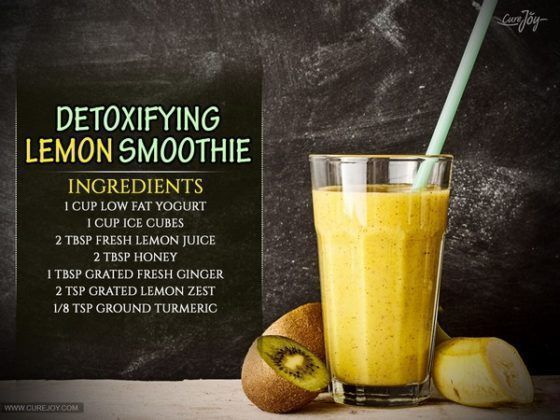 Detox Your Liver with This Lemon Smoothie #FoodsThatDetoxYourBody #liverdetox  -…