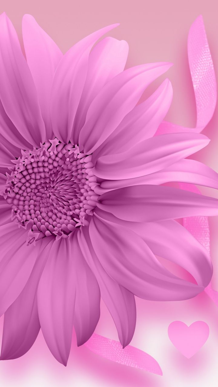 Download 720x1280 Wallpaper Digital Art Gerbera Flower Samsung Galaxy Mini S3 S5 Neo Flower Iphone Wallpaper Pink Flowers Wallpaper Flower Phone Wallpaper