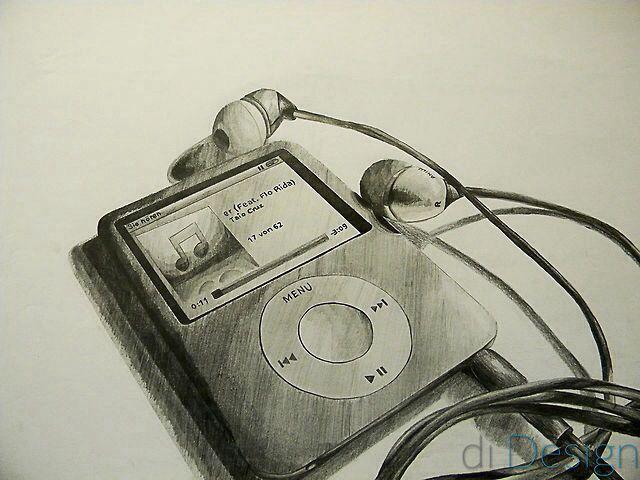 iPod drawing 3D sketch pencil | Art ♡ | Pinterest | 3d ...