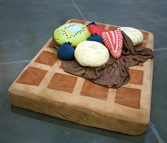 I found 'Waffle Bed with Syrup Sheets and Fruit Pillows' on Wish, check it out!
