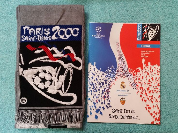 2000 #champions #league final programme + matchday scarf - real madrid v #valenci,  View more on the LINK: 	http://www.zeppy.io/product/gb/2/172493311074/