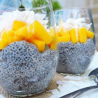 Coconut Chia Pudding! Yes please. 21 Day Fix friendly with the container count in the recipe!