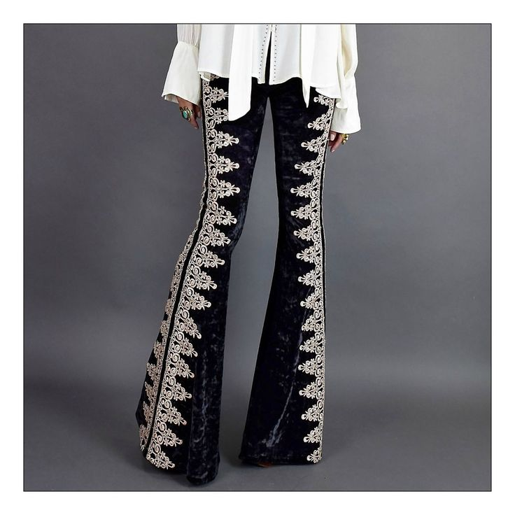 Taking our velvet flairs to a whole other badassery level! Inspired by our main squeeze Jimi Hendrix..We've taken a gorgeous metallic crochet l...