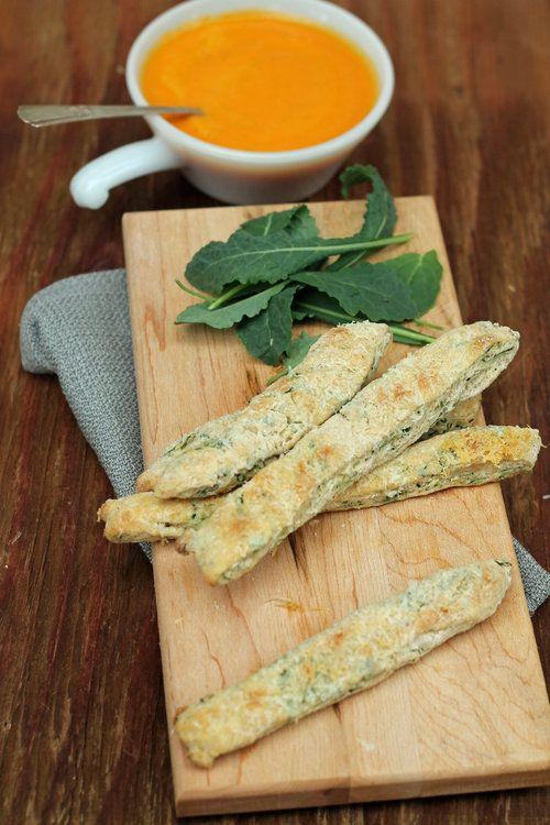 Healthy Baby Kale Breadsticks