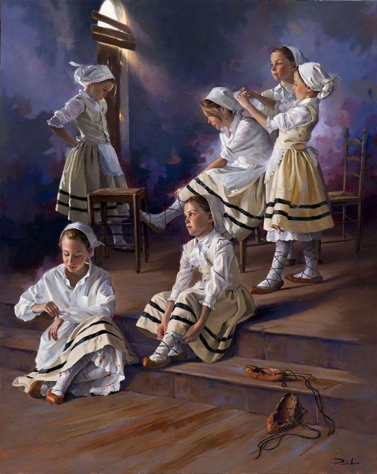 Ricardo Sanz – Poxpoliñas en claros Óleo sobre lienzo. 162×130 cms.