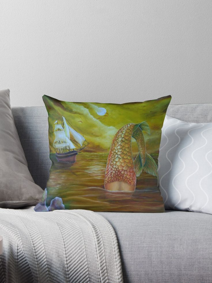 Throw Pillow,  home,accessories,sofa,couch,decor,mermaid,fantasy,gold,cool,beautiful,fancy,unique,trendy,artistic,awesome,fahionable,unusual,for,sale,design,ideas,redbubble