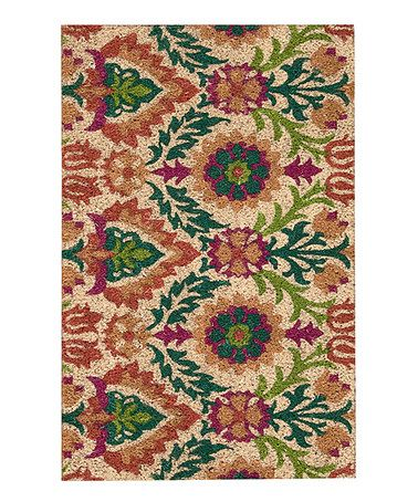 Nourison Purple Amp Green Floral Rug Rugs Look At And