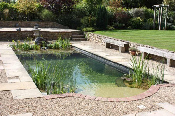 "A new amazing trend: ""Natural Pools""  (no chemicals necessary! the pools are completely filtered through carefully arranged plants!)"