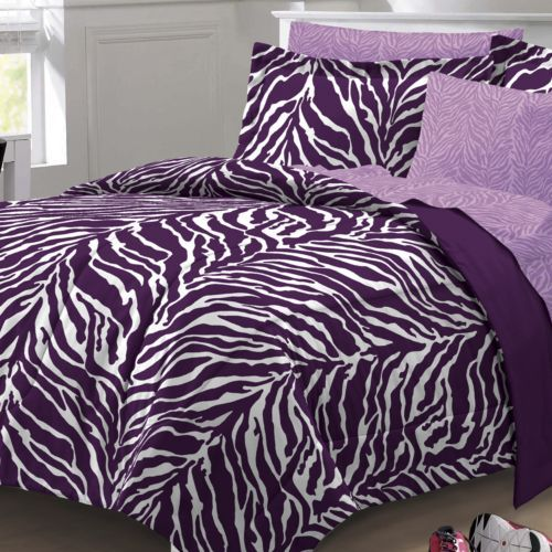 My Room Zebra Bed Set (047225024213) Featuring a zebra  ~ 235855_Zebra Print Dorm Room Ideas