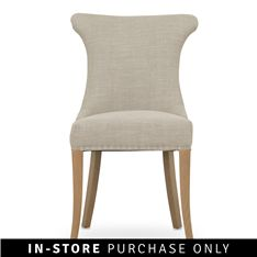 kaftan dining chair with ring natural