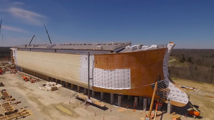 """An enormous model of Noah's ark is rising in Kentucky. Ken Ham, the man behind it, wants to use the boat to promote his belief in """"young earth"""" creationism."""